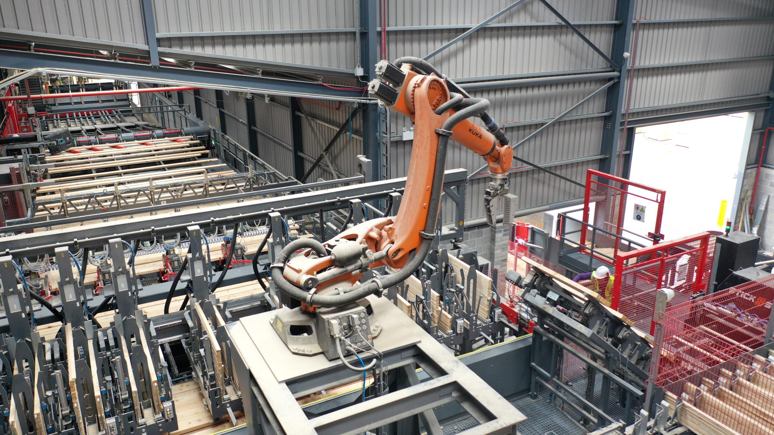 Die Leistensortierung mit Roboter